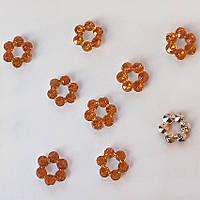 Камешки-веночек желто-оранжевые