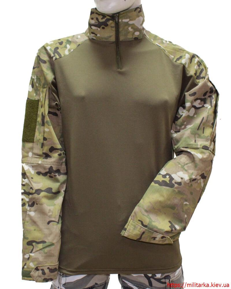Тактическая рубашка убакс рип-стоп multicam