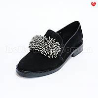 Женские замшевые туфли с бисером