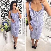 Женское стильное платье на пуговицах (2 цвета), фото 1