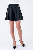 Молодежная расклешенная юбка черного цвета