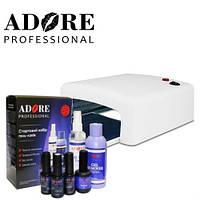Стартовый набор для покрытия ногтей гель-лаком Adore Professional №2 (7 предметов)
