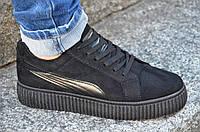 Кроссовки, мокасины на платформе женские черные мягкие, легкие Китай 2017. Топ