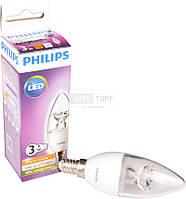 Philips Светодиодная лампа Philips LED 3-25W E14 2700K 230V  CL ND (свічка)