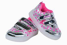 Дитячі кросівки з LED-підсвічуванням для дівчинки Clibee Польща розміри 21-26