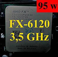 Процессоры (б/у) AMD FX-6120, 3,5-4,1ГГц, sAM3+, Tray  6100 6300 6200 6330