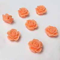 Кабошон Роза 1,2 см пришивной, оранжевый