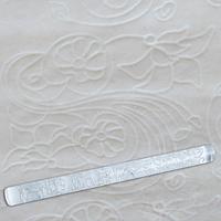 Скалка EM8963 текстурная для мастики прозрачная  Д=29мм L= 290мм Empire  (Empire Эмпаир Емпаєр)