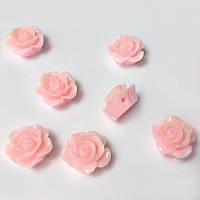 Кабошон Роза 1,2 см пришивной, розовый