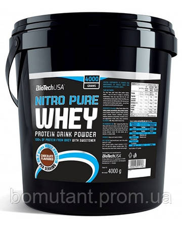 Nitro Pure Whey 4 кг клубника BioTech