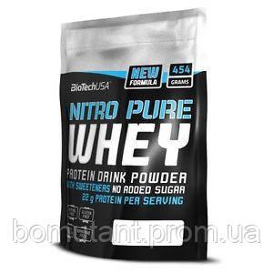 Nitro Pure Whey 454 гр банан BioTech