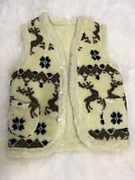 Безрукавка женская из овечьей шерсти двойная на пуговицах