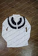 Белая  стильная школьная блуза