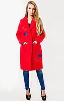 Пальто женское Мехико 48, красный