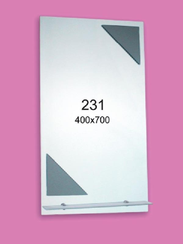 Зеркало для ванной комнаты 400х700 мм Ф231