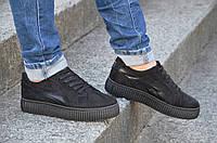 Кроссовки, мокасины на платформе женские черные мягкие, легкие Китай. Лови момент