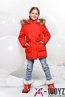Пальто детское DT-8236-14 (Алый)