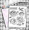 Набор штампов пионы (надписи на русском)