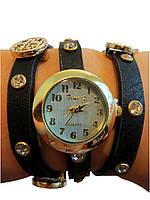 Стильные женские часы  браслет , черные