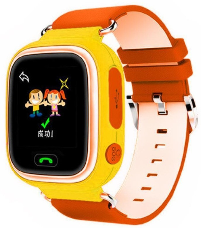 Детские умные часы с GPS трэкером Smart Baby Watch Q90 оранжевые