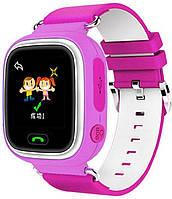 Детские умные часы с GPS трэкером Smart Baby Watch Q90 розовые, фото 1