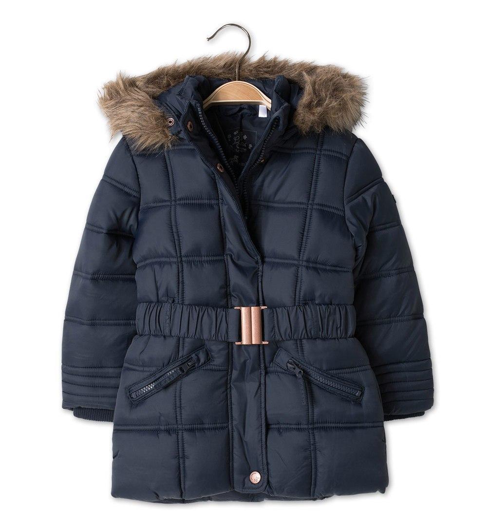 Детская зимняя куртка с опушкой на девочку 2 года C&A Германия Размер 92