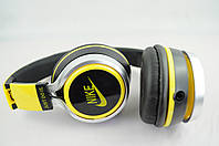 Наушники проводные NK198 NIKE (в коробке) черный\желтый