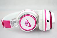 Наушники проводные NK198 NIKE (в коробке)белый\розовый