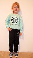 Спортивный костюм подростковый с кофтой мятного цвета , размеры 128-164