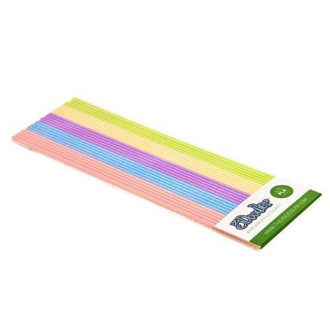 Набор стержней из PLA-пластика для 3Doodler Create - ПАСТЕЛЬ PL-MIX14, фото 2