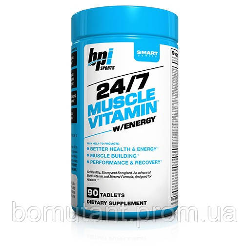 24/7 Muscle Vitamin w/energy 90 таб BPI sports