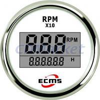 ECMS Тахометр с счетчиком моточасов ECMS PLT2-WS-RPM белый