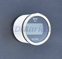 ECMS Цифровой тахометр со счетчиком моточасов ECMS PLT2-BS-RPM черный