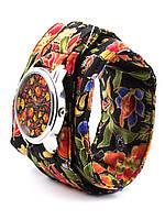 Часы наручные Хохлома тканевый ремешок