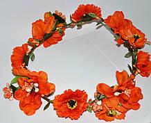 Венок на голову из искусственных цветов (от 1 шт)
