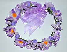 Цветочные ободки и венки на голову (от 1 шт)
