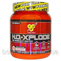 N.O.-XPLODE Pre-Workout Igniter New Formula! 30 serv. non-caffeinated! 555 гр фруктовый пунш BSN