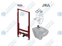 Инсталляция TECE (9330000)+звукоизоляционная прокладка (9200010)+комплект крепления(9380007)+биде  Jika Lyra (3038.1)