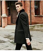 Мужское пальто со съемным меховым воротником. Модель 6350., фото 3