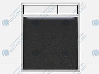 Клавиша SANIT 16.734.00.0040 гранит черный/белый