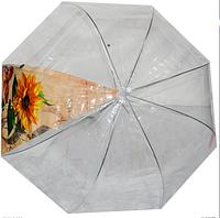 Трость прозрачная (купол, одна секция, рисунок)