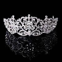 Диадема высокая Корона Элиза Тиара Виктория элит класс свадебная шикарная