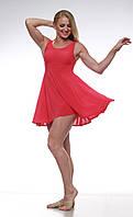 """Платье для танца """"контемп"""" Dance&Sport  K 2345 коралловый, масло XS"""