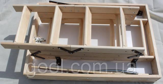 Лестница чердачная складная PRIMA OMAN высота 280 см. размер 110х70 см