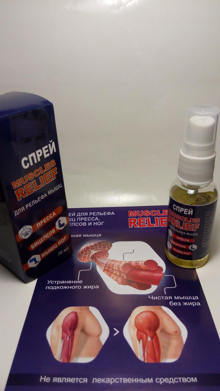 Muscles Relief (Мускулс Релиф) спрей для рельефа мышц