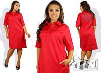 Стильное  женское платье прямого кроя размер 50-56