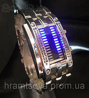 Часы браслет бинарные светодиодные.