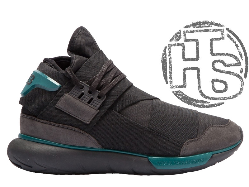 Мужские кроссовки Adidas Y-3 Qasa High Black/Teal BB4735