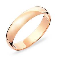 Классическое обручальное золотое кольцо без вставок