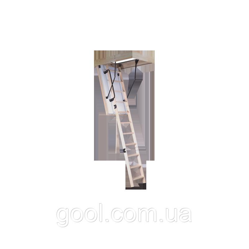 Лестница чердачная утеплённая складная POLAR OMAN высота 280 см. размер 120х60 см